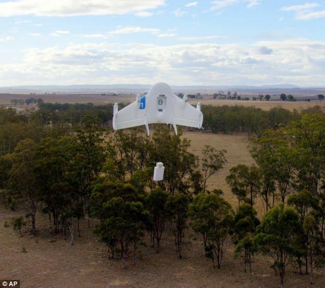 طائرات بدون طيار توصل بضائع غوغل في استراليا