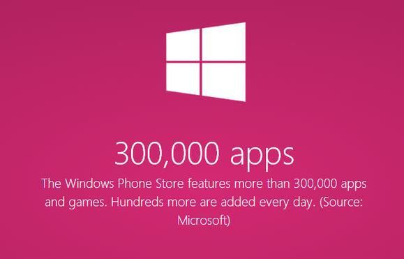 300 ألف تطبيق على متجر ويندوز فون