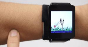تقنية جديدة بالساعة الذكية تحول الذراع إلى لوحة لمس