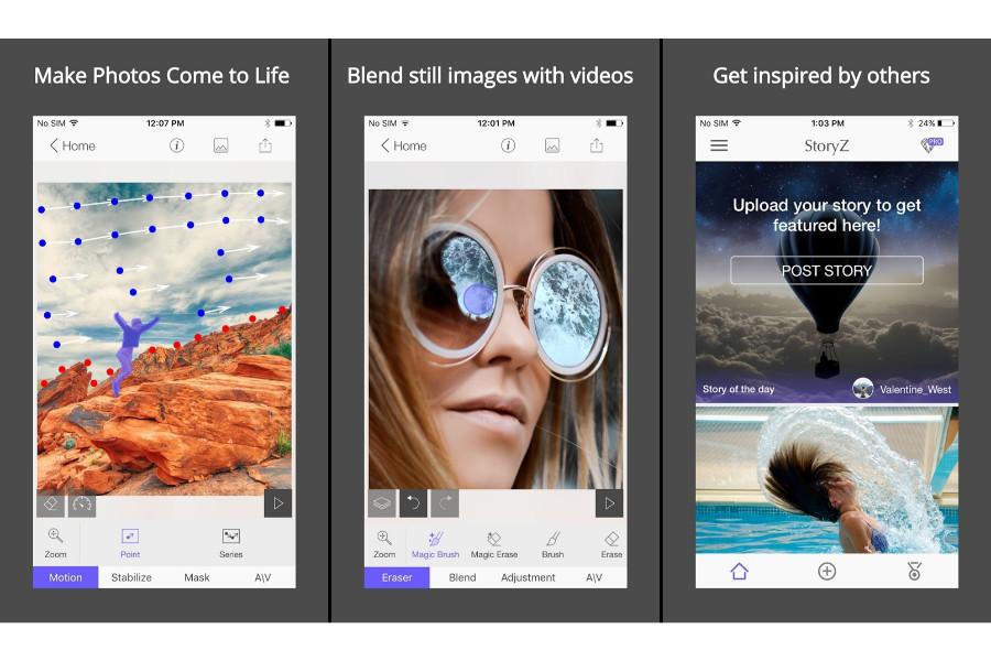 تطبيق StoryZ Photo motion لجعل صورك الشخصية تتحرك