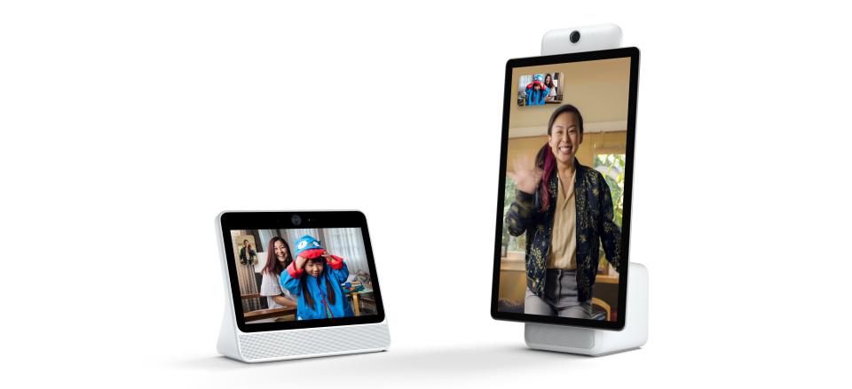 فيسبوك تطلق جهازين منزليين بشاشتين ضخمة بأسلوب مختلف